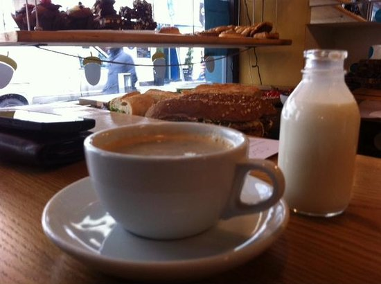 Orso :                   Coffee, and delights in the background