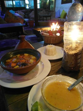 Same Same But Different Restaurant :                   Vegetarian Tajine. So much food, that its hard to eat it all.