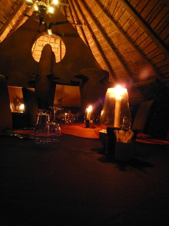 Makalali Private Game Lodge:                   Abendessen