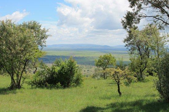 Mara Siria Camp:                   spectacular view over the Masai Mara plain