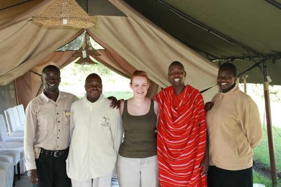 Mara Siria Camp:                   our wonderful camp staff on our departing day