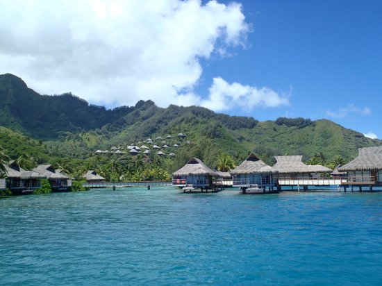 InterContinental Resort & Spa Moorea:                   View from our catamaran