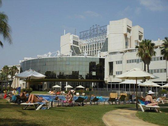 Silken Al-Andalus Palace Hotel:                   Giardino accanto alla piscina