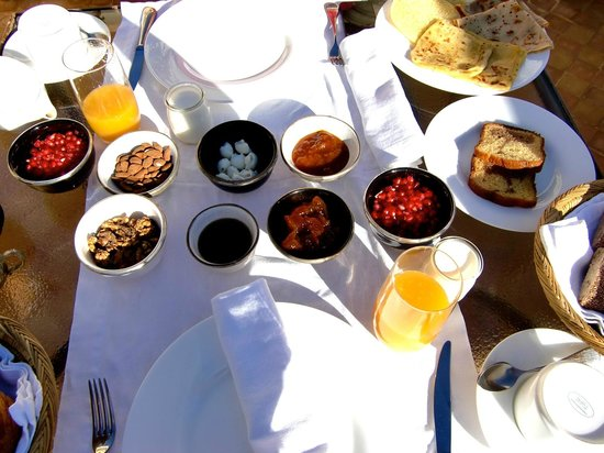 Riad Joya:                   Breakfast at the roof top