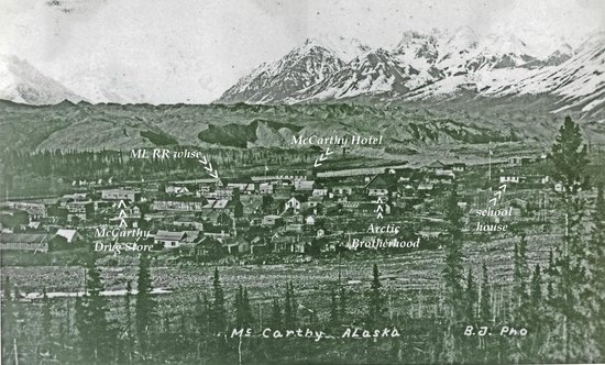 Ma Johnson's Hotel: McCarthy was the largest town in Alaska, now it;s the smallest!