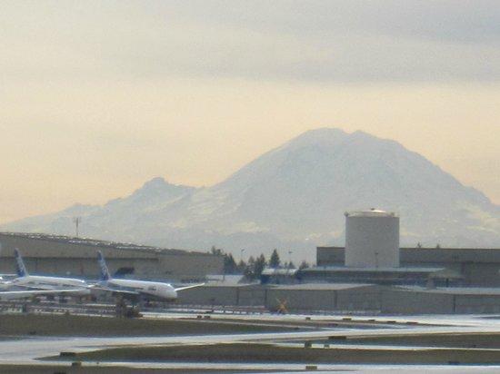 Hilton Garden Inn Seattle North / Everett : View from bedroom window -Mt.Rainier