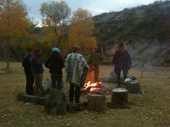 Chinati Hot Springs:                   Good times round the campfire.  Fires not permitted when weather is too dry.