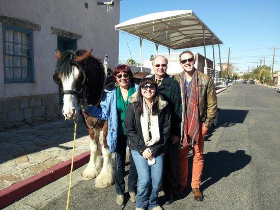 Family enjoys Sentinel Carriage Company Historical Tour