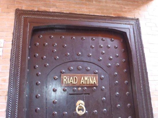 Riad Amina:                   porte d'entrée du riad
