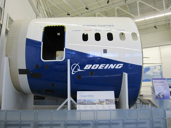 Future of Flight Aviation Center & Boeing Tour: Boeing 787 fuselage