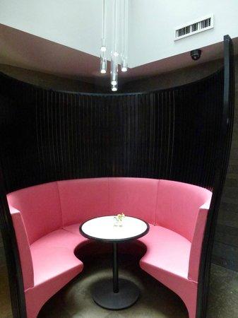 Hotel Sezz Paris:                   Veuve Bar - also breakfast served here                 