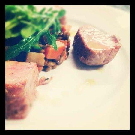 Hoppa Restaurant: Pork loin with puy lentils