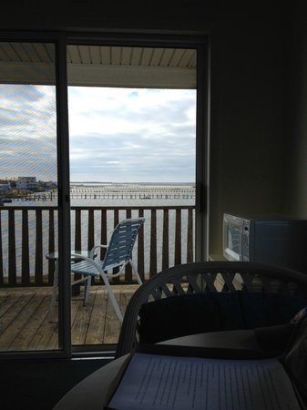Waterside Inn:                   Balcony from inside room