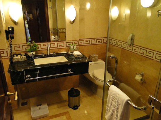 Rex Hotel:                   Marble Bath with separate jacuzzi tub and shower