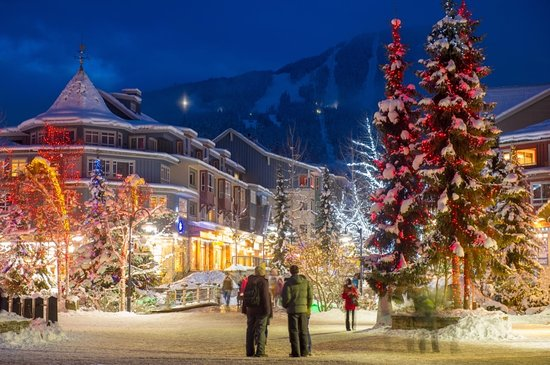 Snowy Whistler Village / Photo Credit: Mike Crane