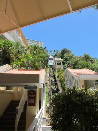 El Conquistador Resort, A Waldorf Astoria Resort:                   Tram (The awkward transportation station)