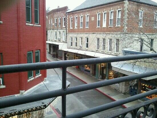 The New Orleans Hotel:                   view from third floor balcony