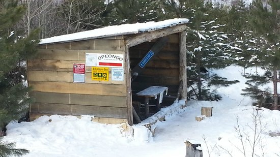 Pinewood Inn:                   warm up hut just off the 159  Trails were great.  Thanks to the Opeongo snowbi