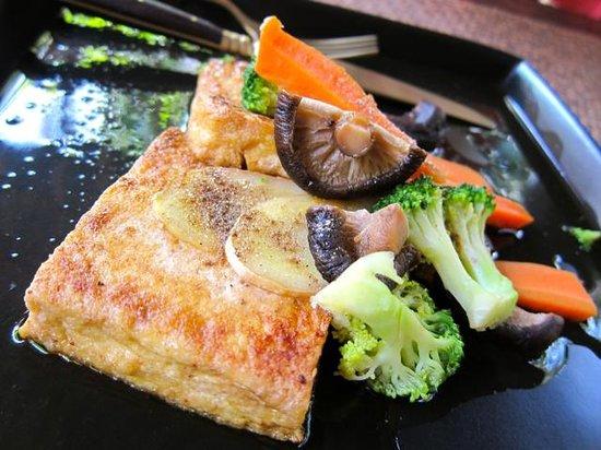Tianzi Tea House and Garden:                   Tofu Steak