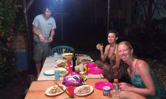 Hotel Perico Azul:                   Communal bbq celebrating the end of surf class.