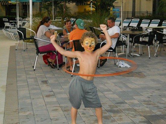 Holiday Inn Club Vacations At Orange Lake Resort:                   Hula Hooping at the pool