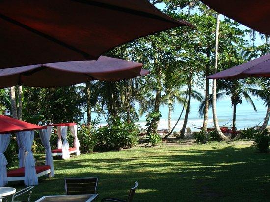 Le Cameleon Boutique Hotel:                   espaço relax em frente ao mar