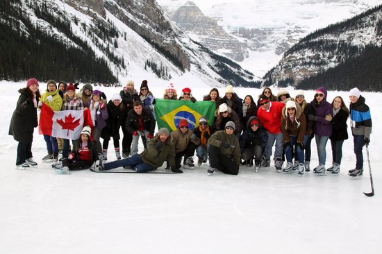 ice skating at lake louise picture of west trek tours. Black Bedroom Furniture Sets. Home Design Ideas