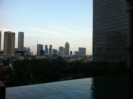 PARKROYAL on Pickering:                   View from pool area