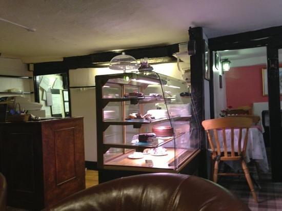1657 Chocolate House:                   chocolate cakes on display