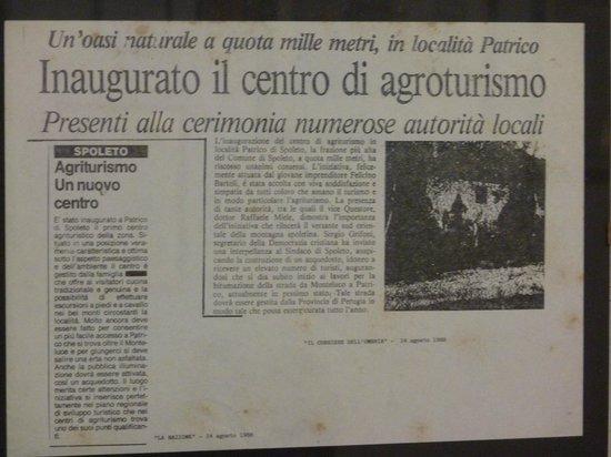 Agriturismo Bartoli:                   Il Primo in Umbria