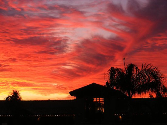 Sunset at Meridian RV Resort