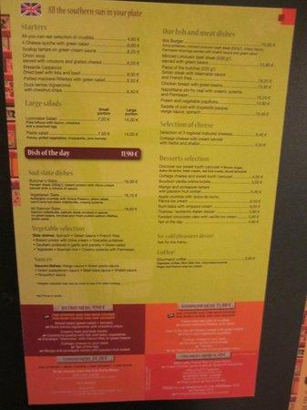 Ibis Paris CDG Airport: menu