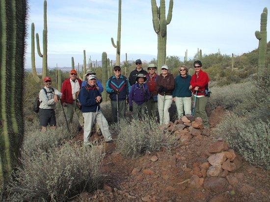 Meridian RV Resort:                   Hikers out exploring