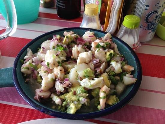 Yucatan, Meksika:                   ceviche