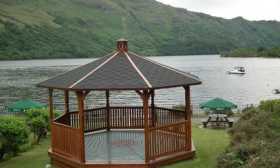 Ardlui Hotel: Gazeebo in beer garden