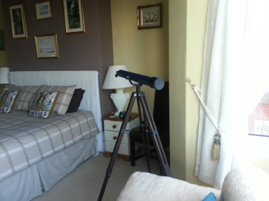 Woodside Bed & Breakfast:                   My favourite room with a telescope to enjoy the view