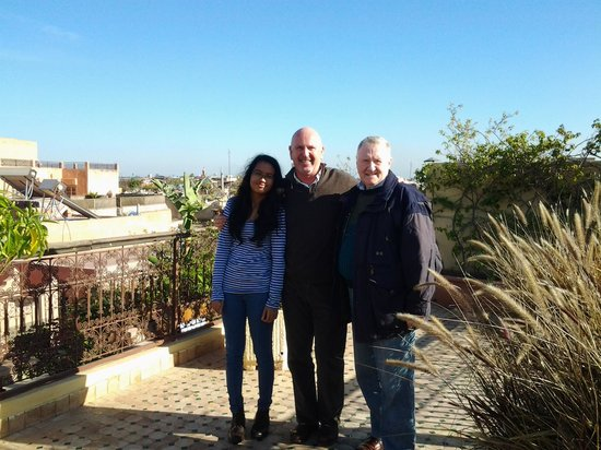 Dar Silsila:                   my husband and daughter with Jean Patrick on our 1st day at the riad