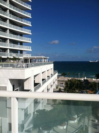 W Fort Lauderdale:                                     view from amphitheatre