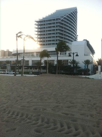 W Fort Lauderdale:                                     view of the W from the beach