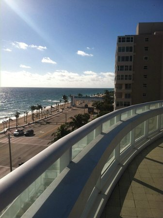 W Fort Lauderdale:                                     view from pool deck