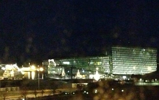 101 hotel: View of Harpa concert hall from room