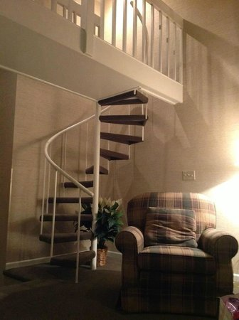 Fernwood Resort:                                     stairs to the loft