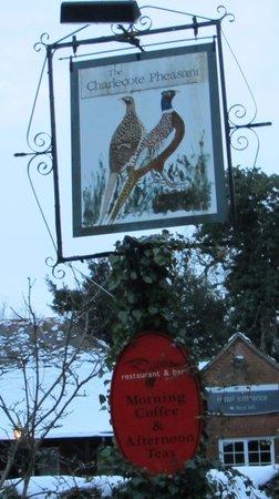 The Charlecote Pheasant Hotel: Charlecote Pheasant sign