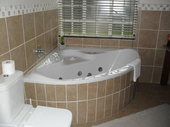Bryan Manor Guest House:                                     Generous sized spa bath.