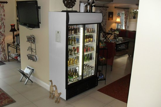 Bryan Manor Guest House :                                     Honor bar.  Help yourself and sign for what you take. Great!