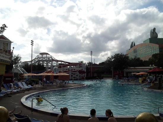 Disney's BoardWalk Inn:                   Luna Pool (the Swan and Dolphin were much closer than I had expected)