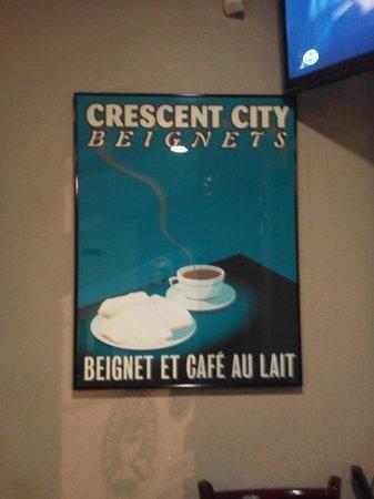 Crescent City Beignets: Excellent food  !!