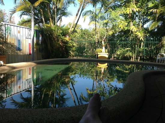 Cairns Bed & Breakfast:                   poolside
