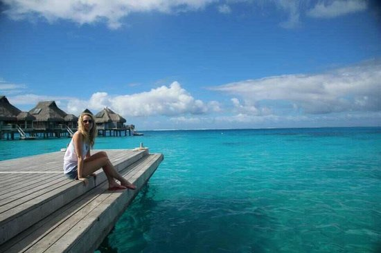 Conrad Bora Bora Nui:                                     Waiting for boat to go into town
