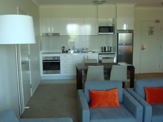 Quest Breakfast Creek Serviced Apartments:                   kitchen and dining